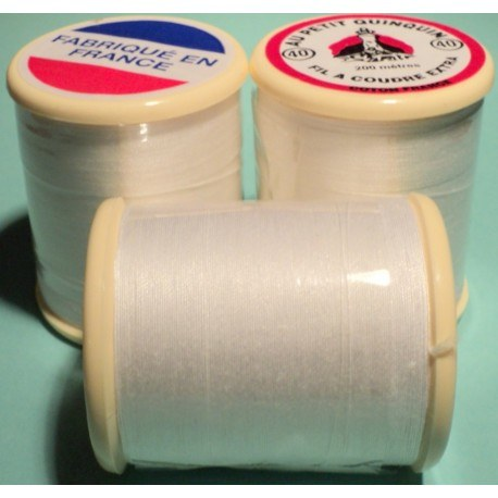 "Cotton Thread ""au petit quinquin"" 200m white"