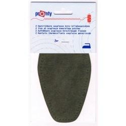 Iron-on elbow patches (2) dark khaki