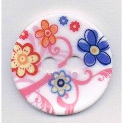 Bouton décoratif 45mm, rose