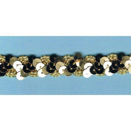 Wave Sequin Braid 15mm gold
