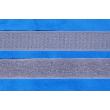 Hook and Loop sew-on 30cm grey