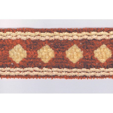 Decorative braid velvet chenille 50mm