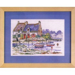 Houses in the Golf of Morbihan 30x35cm Aïda 7