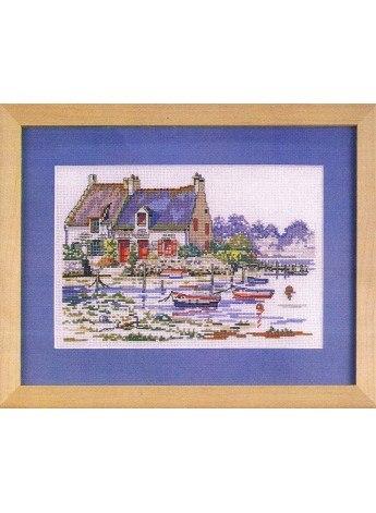 Maison dans le Golfe de Morbihan 30x35cm Aïda 7