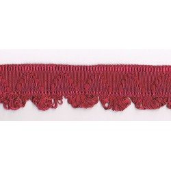 Galon Passementerie 38mm rose antique / bordeaux