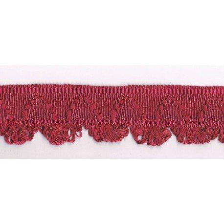 Decorative braid 38mm antique rose / burgundy