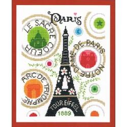 La tour Eiffel Paris 24x30cm Aïda 5.5