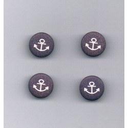Bouton ancre 12mm marine avec ancre blanc (4)