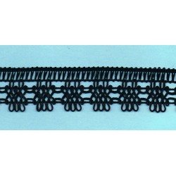Black crochet Lace 30mm