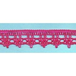Fuchsia crochet Lace 30mm