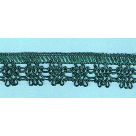 Dark green crochet Lace 30mm