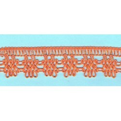 Orange crochet Lace 30mm