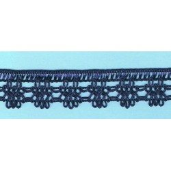 Navy Blue crochet Lace 30mm