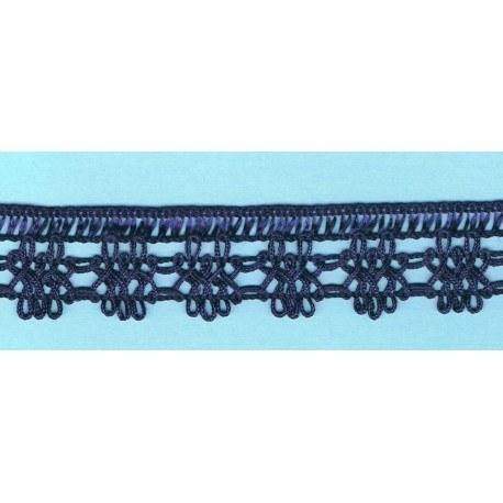 Navy Blue crochet Lace 30mm