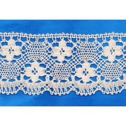 Naturel crochet Lace 85mm