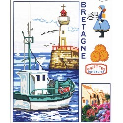 Brittany counted cross stitch kit 40x50cm Aïda 7