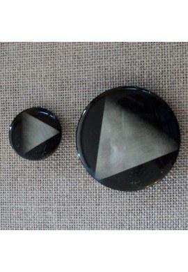 Bouton manteau noir 20mm / 38mm