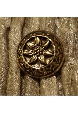 Button Tyrol Edelweiss motif gold