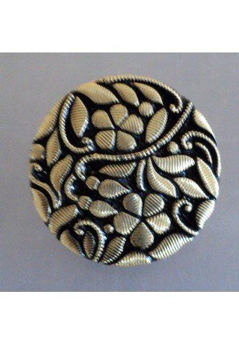Bouton perle de jais noir 18mm / 22mm