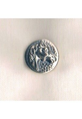 Equestrian Button horse head metal 18mm silver