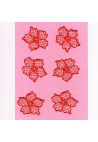 Lace patches flowers 6 pieces to sew-on
