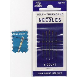 Self threading needles assortment