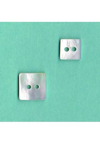 Mother of pearl shirt button Square 9mm/11mm naturel