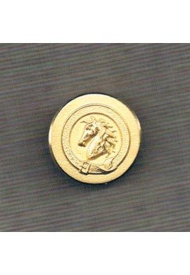 Equestrian Button Horse metal 22mm gold