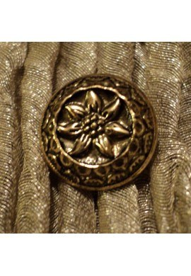 """Button 11mm gold with """"Edelweiss"""""""