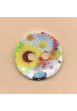 Decorative button 34mm, daisy,sunflower