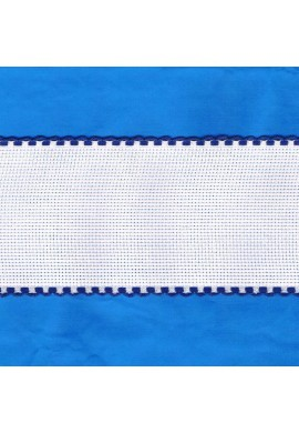 Aida embroidery braid, 7,5cm, 1 meter, blue finish