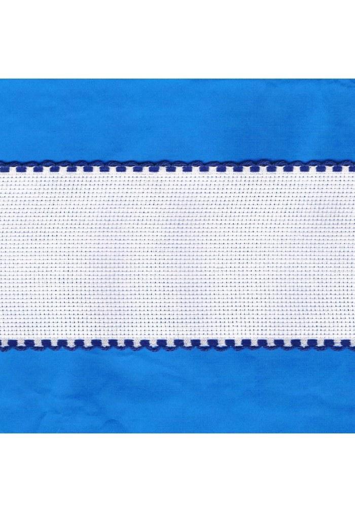 Aida embroidery braid, 7,5cm, 1 meter, blue finish