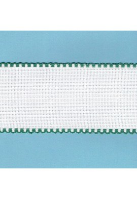 Aida embroidery braid, 7,5cm, 1 meter, green finish