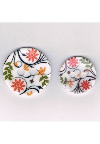 Decorative button 35mm/45mm, The flowers