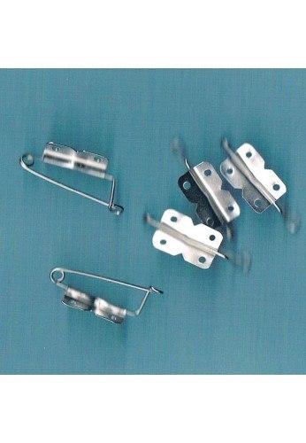 Epingles broches (5 pièces) 25mm argenté