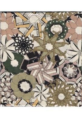 Tissu fleurs fantaisie