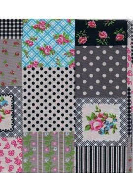 Patchwork fabric square 45x45cm