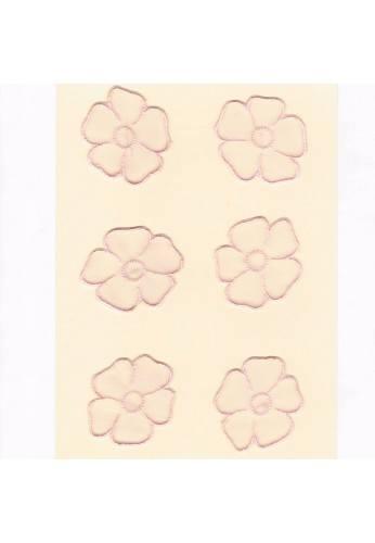 Ecussons Dentelle fleurs 6 pieces à coudre rose