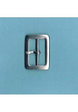 Boucle de ceinture 25mm métal argenté