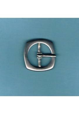 Boucle de ceinture 20mm métal argenté
