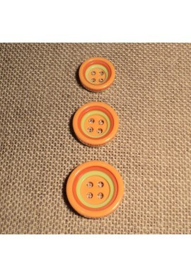 Button 4 holes orange 12/15/18mm 4-trous