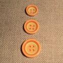Button 4 holes orange 12/15/18mm  4-trous