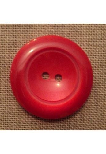 Bouton manteau rouge 43mm 2-trou