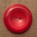 Coat Button red 43mm 2-holes