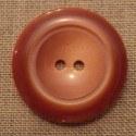Coat Button brown brique 43mm 2-holes