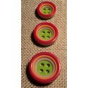 Button 4 holes red 12/15/18mm  4-trous