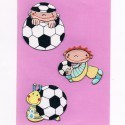 "Set of 3 Iron-on Patches ""soccer"""