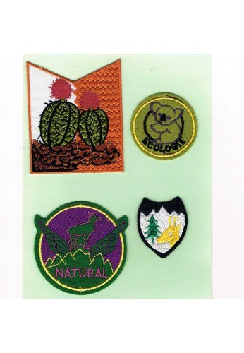 Patches Iron-on 4 pieces nature