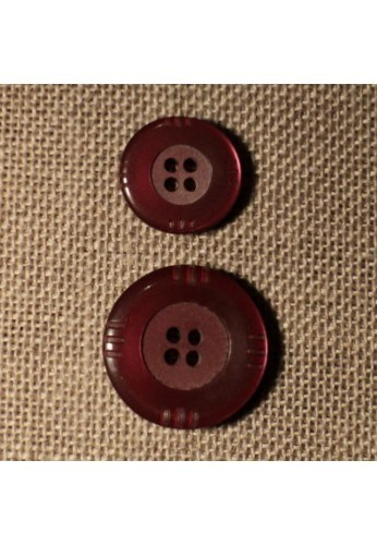 Button burgundy 4-holes 15mm/20mm