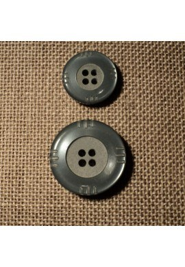 Bouton gris moyenne 15mm/20mm 4-trous
